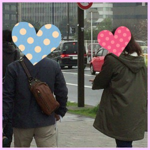 横浜散策中のカップル