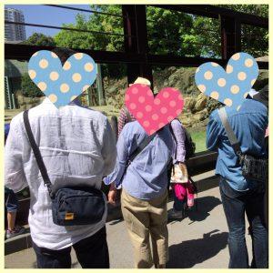 動物園散策中の男女