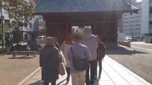護国寺参拝したグループ