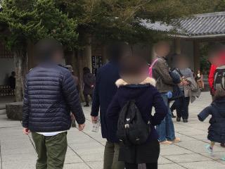長谷寺でグループ散策中