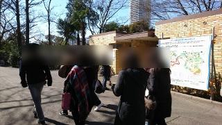 上野動物園でグループ散策