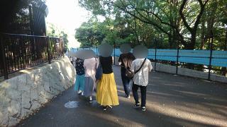 動物園散策イベント中